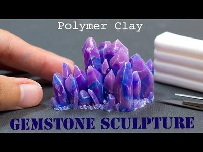 Polymer Clay Gemstone Crystals. Fimo Tutorial