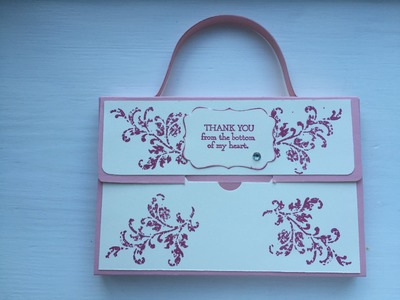 Satchel box teacher gift using Stampin' Up!