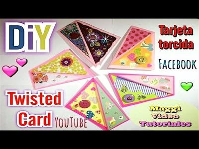 TARJETA SCRAPBOOK TORCIDA  Twisted Card  ♥ Maggi