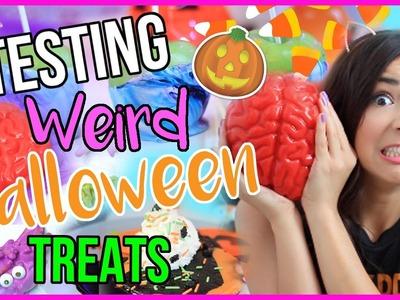 Testing WEIRD and CRAZY HALLOWEEN Treats!