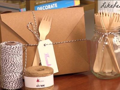 Wedding DIY: Kraft Take Out Boxes as Wedding Favors & Gluten Free Cookie Recipe