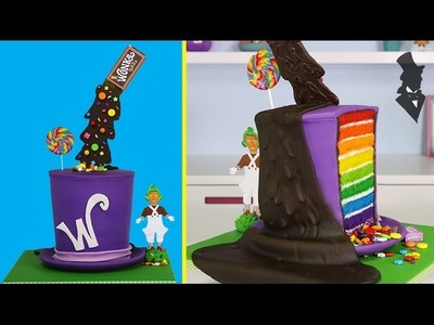 WONKA ILLUSION CAKE - The ULTIMATE Gravity Defying Willy Wonka Candy Cake