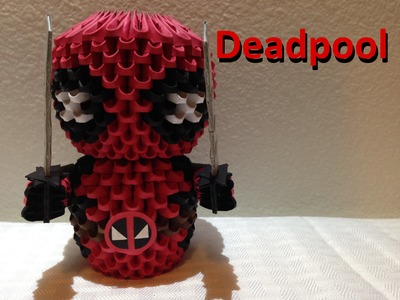 3D Origami Deadpool tutorial
