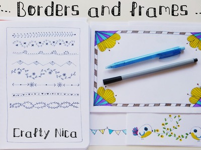 BORDERS AND FRAMES DESIGNS. Borders for cards,  school projects & planner decoration ideas