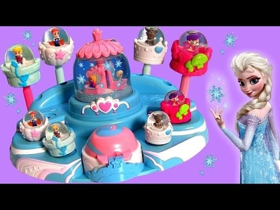 Disney Frozen Elsa's Ballroom Glitzi Globes with Magical Giant Snow Glitzi Globe - Toy Surprise Eggs