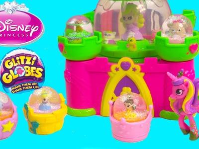 Glitzi Globes Disney Princess Cinderella Belle Beauty & the Beast Castle Water Playset Toy Unboxing