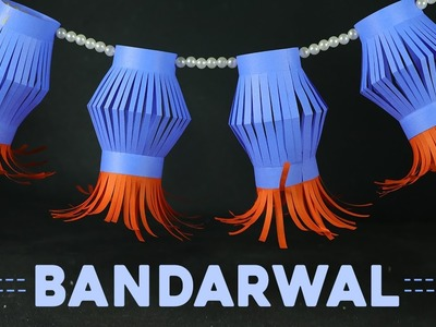 Handmad Bandarwal Making via Paper Lanterns for Door Decoration on Diwali