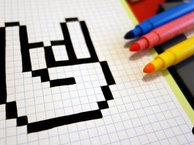 Handmade Pixel Art - How To Draw a Hand #pixelart