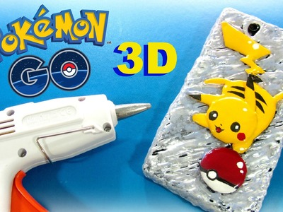 How to make 3D mobile cover made with silicone gun Pikachu.
