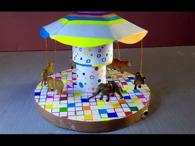 How to make a carousel amusement ride for kids by crazyartline