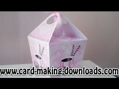 How To Make A Large Handled Gift Box www.card-making-downloads.com