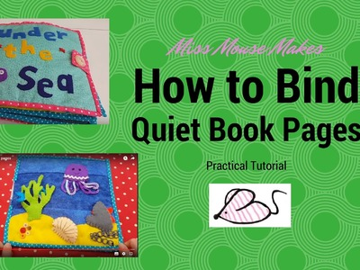 How to prepare quiet book pages