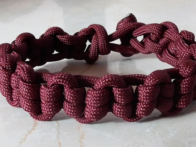 How To Tie An Earthworm Paracord Survival Bracelet Without Buckle