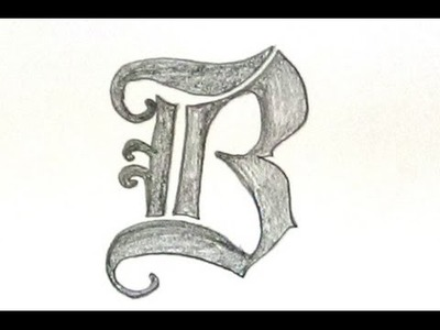 "How To Write Letter ""B"" In Old English Font Style. Unique Designer  Font Letters"