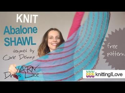 Knit Abalone SHAWL by Carle Dehning FREE PATTERN Drops Lace yarn KnitPro needles | knittingILove