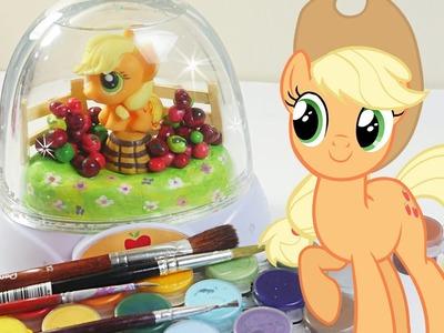 MLP glitzi globes inspired apple jack glitter dome My little pony snow globe