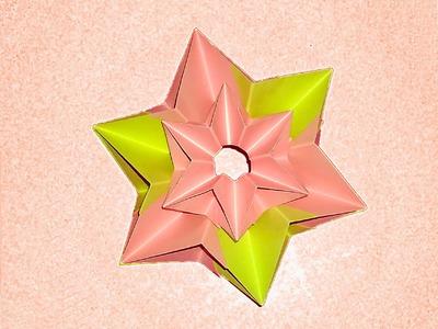 Origami flower - Christmas star. Ideas for Christmas ornaments.