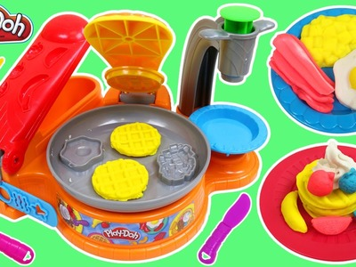 Play Doh Breakfast Cafe Playset Fun Make Your Own Play Dough Waffles Bacon Eggs!