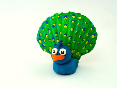 Play-dough Peacock | Crafts for Kids