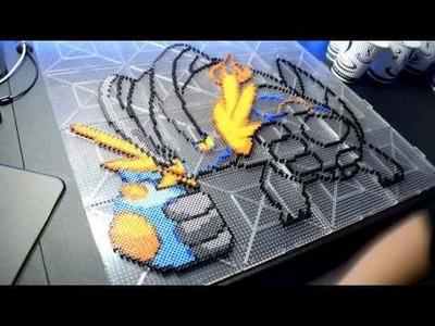 Pokemon - Mega Swampert (8 - Bit Perler Bead Pixel Art)