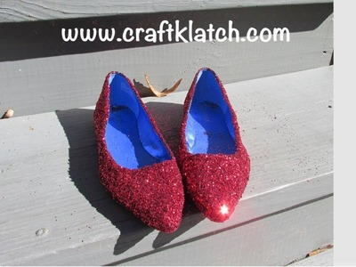 Red Glittered Shoes for Halloween
