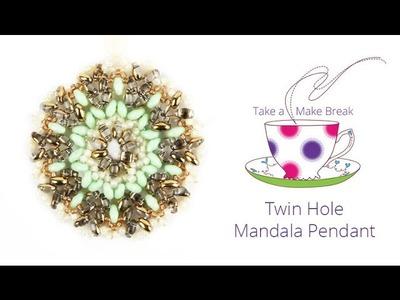 Twin Hole Mandala Pendant | Take a Make Break with Debbie Bulford