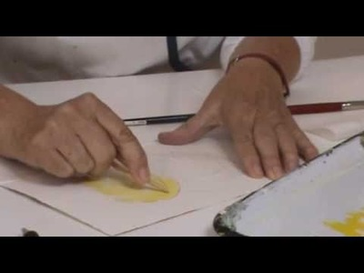 Watercolor Demo: How to Watercolor Fall Leaves by Margie Bowker - Part 1