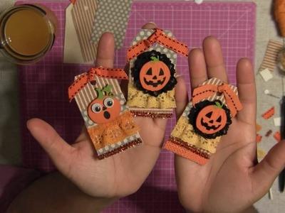 #3  Let's Make Halloween Gift Tags Embellishments - Halloween Series 2016