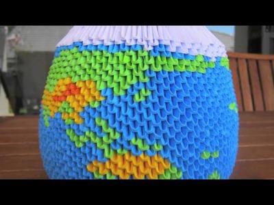 3D Origami Globe