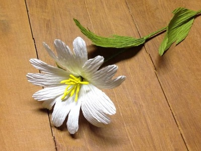 Beautiful Crepe Paper flowers - Flower Making of Crepe Paper - Paper Flower Tutorial
