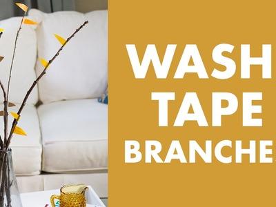 DIY Washi Tape Fall Branches