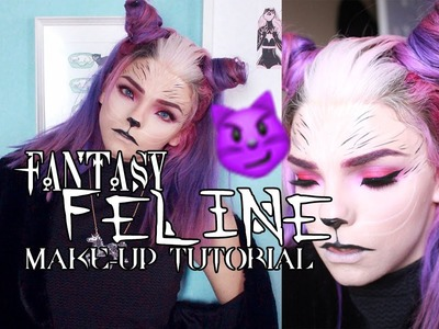 Fantasy Feline Make-up and Hair - Halloween.Cosplay