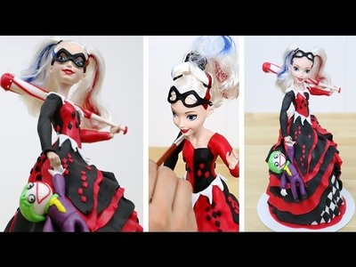 How To Decorate a Harley Quinn Doll Cake  by CakesStepbyStep