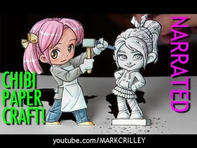How to Draw a Chibi Sculptor.Vanellope from Wreck It Ralph