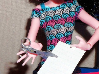 How to make a scissors for doll (Monster High, MLP, EAH, Barbie, etc)