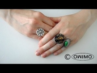How to make Button Rings - OWIMO Design Upcycling