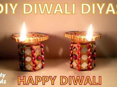 How to make DIY Diwali Diyas at Home | Tutorial !!