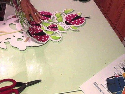 Lady Bug Centerpieces done using the Silhouette