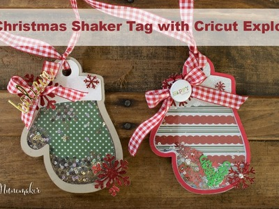 Mitten Shaker Tag with the Cricut Explore