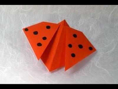 Origami Ladybird Instructions: www.Origami-Fun.com