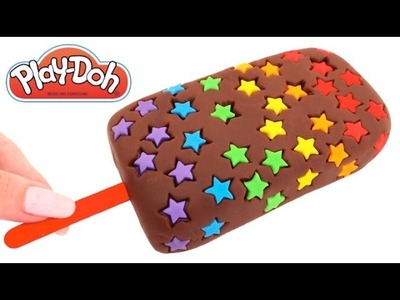 Play-Doh How to Make a Rainbow Star Popsicle Creative DIY For Kids RainbowLearning