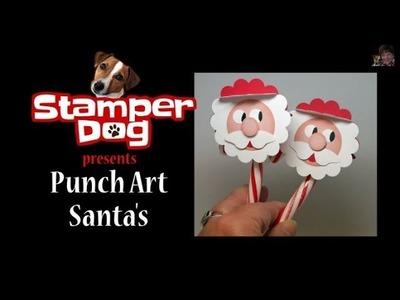 Punch Art Santa Candy Cane