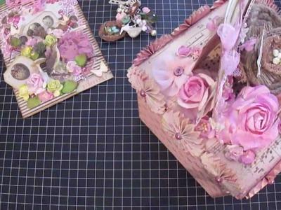 Shabby Chic : ) Tag , Charm , Handmade Box and Birdcage