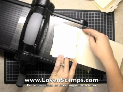 Top Note Tri-Fold, Stamping 201 with Meg