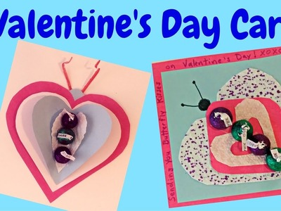Valentine's Day: Butterfly Kisses Valentine Cards Craft for Kids