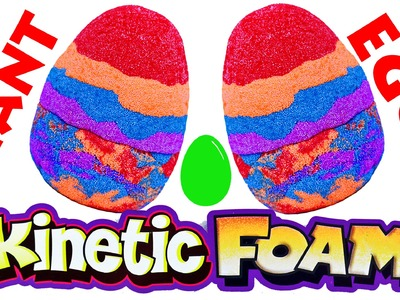 Giant Kinetic Foam Rainbow Easter Egg Surprise Eggs Toys Blind Bags & Colors by DisneyCarToys