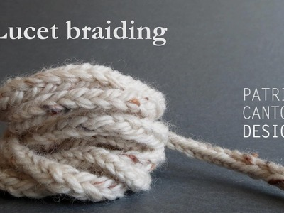 Lucet braiding with bare hands - craft lesson