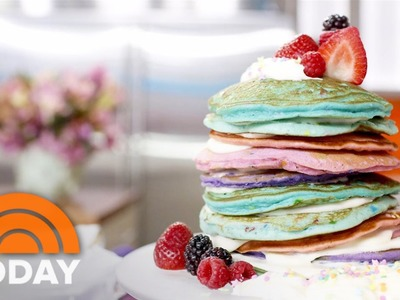 Make Mom A Unique Rainbow Pancake Cake For Mother's Day | TODAY