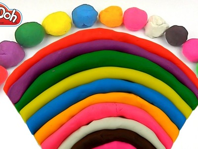 Play Doh Rainbow ☀ How To Make Playdough Rainbow