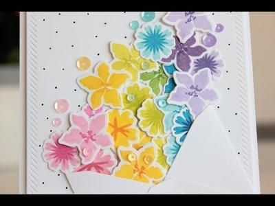 Rainbow of flowers: a birthday card